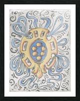 Florentia_ Crest - fresco Picture Frame print