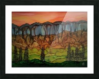 Weeping Cliffs Picture Frame print
