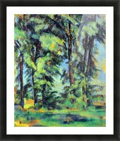 High trees in the Jas de Bouffan by Cezanne Picture Frame print