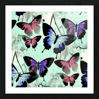 Seamless Butterflies Pattern  Picture Frame print