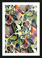 Linear Interlacing Expressionism Abstract Picture Frame print