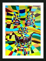 Watecolor Contermporary Pop Surrealism Clown  Picture Frame print