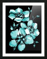 Harmonious Artdeco Floral Pattern  Picture Frame print