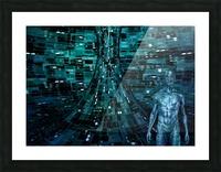 Cyborg Man Picture Frame print