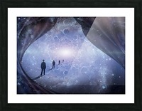 Man in Universe Picture Frame print