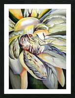 Artdeco Structural Flower Petals Picture Frame print