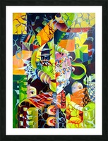 Pop Currealism Contemporary Vivid Utopia Picture Frame print