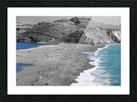 2 Bodies 1 Beach Picture Frame print