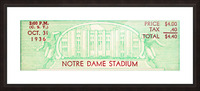 notre dame football fathers day gifts Picture Frame print