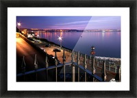 Swansea Bay at night Picture Frame print