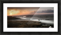 Penclawdd marsh sunset Picture Frame print