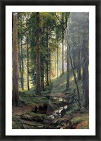 Stream by a forest slope Picture Frame print