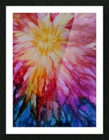 Rainbow Bloom Picture Frame print