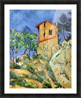 House with Walls by Cezanne Picture Frame print