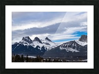 Three Sisters Mountain Picture Frame print