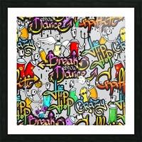 hip hop background Picture Frame print