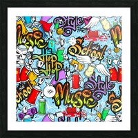 graffit characters seamless pattern Picture Frame print