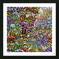 graffiti word seamless pattern Picture Frame print