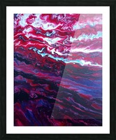 Red and purple sunset Picture Frame print