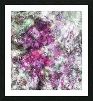 The quiet purple clouds Picture Frame print
