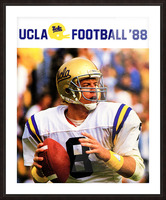 retro college sports posters ucla bruins football Picture Frame print