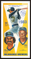 milwaukee brewers 1983 Picture Frame print