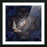 Angel in Space Picture Frame print