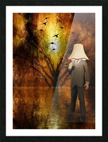 Lamp Man Picture Frame print