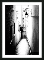 a very narrow street in Paris Picture Frame print