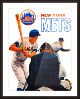 Vintage New York Mets Art Picture Frame print