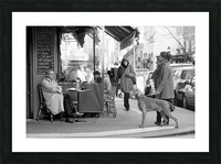 Street Life in Le Marais Picture Frame print