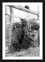 Bike in Passage Picture Frame print