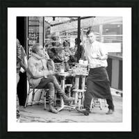 Cafe en face de Drouot Picture Frame print