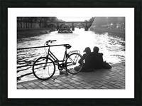 Couche du Soleil - La Seine Picture Frame print
