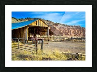 Abandoned farmers hut in the arid desert of Arizona USA Picture Frame print