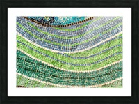 Tessellated Abstracts and Impressions - Free Form Meadows and Flowerbeds in Green and Blue Picture Frame print