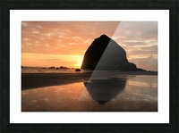 Haystack Rock at Sunset Picture Frame print