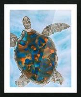 Turtle Island Breaths Again Picture Frame print