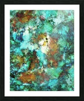 Turquoise terrain Picture Frame print