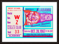 1967 Alabama vs. Clemson Picture Frame print