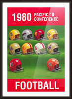 1980 Pac 10 Football Poster Picture Frame print