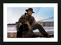 Clint Eastwood as The Man With No Name Picture Frame print