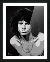 Jim Morrison of The Doors  Picture Frame print