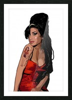 Amy Winehouse  Picture Frame print