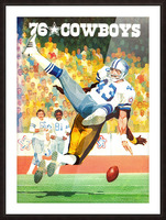 1976 Dallas Cowboys Art Picture Frame print