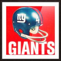 Vintage New York Giants Football Helmet Art Picture Frame print