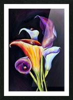 Calla Lilies in Blooming Bouquet Picture Frame print