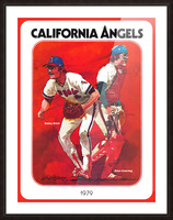 retro california angels poster baseball art row one (1) Picture Frame print
