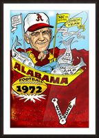 1972 alabama football Picture Frame print