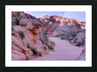 Sunrise over Valley of Fire Wash - Nevada Picture Frame print